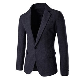 $enCountryForm.capitalKeyWord UK - Veste Homme Costume Men's Casual Fashion Pure Color Single Button Long Sleeve Suit Jacket Coat terno completo #0703