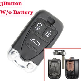 Discount car remote key housing - (1Pcs)3 Buttons Replacement Remote Control Housing Car Key Shell for ALFA ROMEO 159 Brera 156 Spider Smart Key With Blad