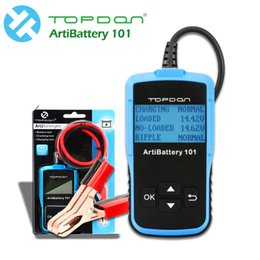Tool Checker Australia - Car Battery Tester 16V DC Digital Battery Analyzer Cranking Charging Tester TOPDON AB101 Battery Checker auto diagnostic tool
