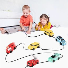 track motorcycles NZ - Enlighten Pen Draw toy railroad Inductive Trains Children's RC Train Tank Toy Car Draw Lines Induction Rail Track Car Kids