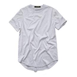 fad6e9c0 Tee Shirt Swag UK - Fashion men's extended Cotton t-shirt longline hip hop  tee