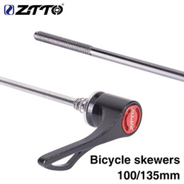 Bicycle Quick Release Hub NZ - ZTTO 1 Pair Bicycle Screw in Skewers 9MM 5MM Quick Release Skewer 100 135 Reliable Axle for MTB Road Bike