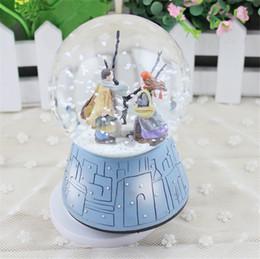 Crystal Ball Music Australia - 2017 Crystal Ball Musical Box Couple Doll Ratating Swivel Music Box Home Wedding Decoration Birthday Gift