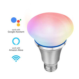 $enCountryForm.capitalKeyWord Australia - Smart WiFi LED Light Bulb Smartphone App Controlled Dimmable 6W E27 7 Colors RGB Energy Saving Bulb Works with Alexa Voice Control
