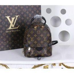 Louis backpack online shopping - Original Designer LOUIS VUITTON Genuine leather mini women bag children backpack luxury famous fashion Springs Palm bags