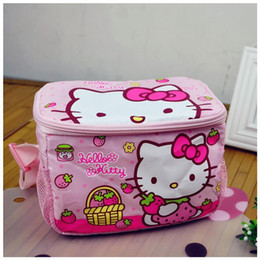 Wholesale Hello Kitty Lunch Bags For Women Kids Tote Bagskids Lunch Bag For School Bears Picnic Pack Kids Bag Marmita Termica