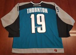 c526c61ecca Wholesale Custom Joe Thornton San Jose Sharks Vintage Koho Cheap Hockey  Jersey Blue Mens Retro Jerseys
