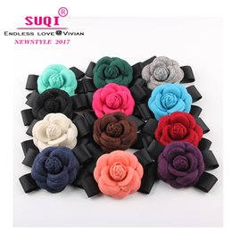 $enCountryForm.capitalKeyWord Australia - Vintage Charms Women Quality Faux Wool Fabric Camellia Bow Brooches Handmade Costume Accessories Big Elegant Brooches jewelry accessoires