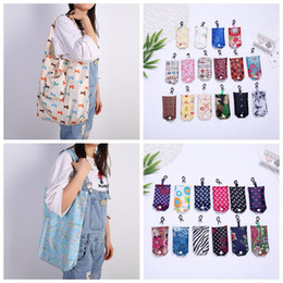 $enCountryForm.capitalKeyWord Australia - Reusable Shopping Bag Foldable Storage Bags Tote Foldable Handy Shopping Bag Recycle Pouch Waterproo Recycle Storage Handbag CCA11836 60pcs