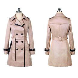 Wholesale black trench coats for women resale online - Fashion Autumn Trench Coat For Women Korean Style Long Coat Women Plus Size Casaco Clothes sobretudo feminino