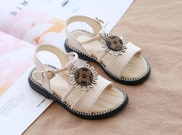 t girl shoes Australia - 2019 Summer Luxury Shoes Sandals lattice Sunflower vintage flower Girls Sandals Children's Gifts Free Shipping 527