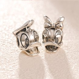 Duck accessories online shopping - Authentic Sterling Silver Duck Charms Original box for Pandora Beads Charms Bracelet jewelry making accessories