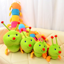 Caterpillar Soft Toys Australia - 50~200cm Colorful catoon caterpillar plush toy doll soft comfy insect pillow cotton worm bug model sofa car cushion kids gift