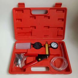 $enCountryForm.capitalKeyWord Australia - Vacuum Tester Hand Held Vacuum Pump Kit Car Tool Testing Tool And Brake Bleeder Car Auto Pressure Tester Set With Box