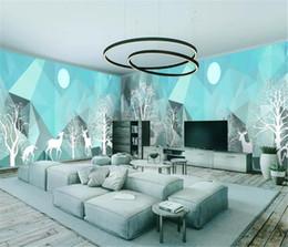$enCountryForm.capitalKeyWord Australia - Woods Elk Modern Abstract Simple House Full Wall Background Beautiful Romantic Wallpaper