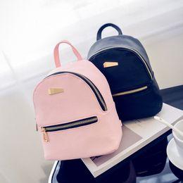 $enCountryForm.capitalKeyWord Australia - 2018 New Style Fashion Women Girls Mini Faux Leather Backpack Rucksack School Bag Travel Handbag Lot
