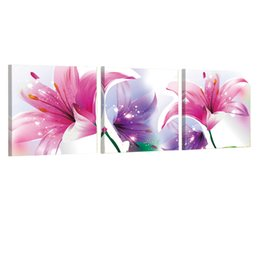 China Beautiful In The Living Room Wall Decorative Canvas Red Purple Lily Flower Wall Art Picture Canvasprint Picture Modern Painting Beautiful suppliers