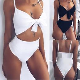 $enCountryForm.capitalKeyWord Australia - Sexy One Piece Swimsuits For Women White Black Strap Tankini Bodysuit Bikini 2019 Swimwear High Waist Bathing Lady Swimming Suit