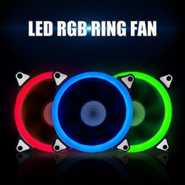 blue cooling fan Canada - Computer 120mm LED Fan Water Cooler 120 mm Fan Cool Glare Red Blue Green White Cooler Fan
