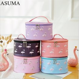 making light box Australia - New Flamingo Cosmetic Bag Necessaire Travel Organizer Make up Box Toiletry Kit Wash Toilet Bag Large Capacity Waterproof Pouch