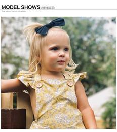 Beautiful Infants NZ - 2019 Summer infant girls garments broken beautiful new jumpsuit climb clothes