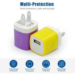 Charging Blocks NZ - QiChen Socket Charger Brick Base Adapter Apple Charging Block USB Cube Plug Charger Box iPhone X 6 7 8P