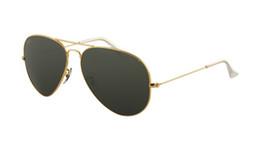 Chinese  RRBB 3025 Original Aviator Sunglasses Gold Brown Metal Mens Womens frog mirror 58mm manufacturers