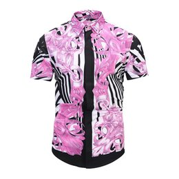 $enCountryForm.capitalKeyWord UK - Free shipping 2019 new medusa print shirts for men slim shirts for men black print leisure M-2XL