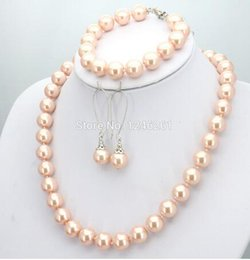 $enCountryForm.capitalKeyWord Australia - women Fashion Jewelry Hot Sale 10mm Glass Round Beads Women Girls Necklace Bracelet Earrings Sets Christmas Gifts Accessories