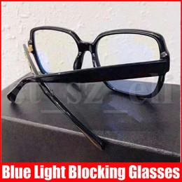 Famous Men Óculos com quadro completo para Homens Mulheres Plain Óculos Anti- Light Blue Bloqueio de vidro com caixa de presente em Promoção