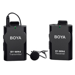 $enCountryForm.capitalKeyWord Australia - BOYA BY-WM5 Pro UHF Wireless Lavalier Lapel Microphone System for ENG EFP DV DSLR Camera Camcorders Audio Recorder for Canon