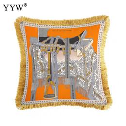 dakimakura case 2019 - Luxury Geometric Cotton Pillow Case Bed Head Pillowcase Gold Bronzing Pillow Cases Poszewki Na Poduszki Dakimakura Home