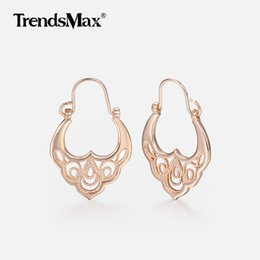 valentine gifts for girls NZ - Dangle Trendsmax 585 Rose Gold Earrings For Women Girls Bridal Wedding Earrings Woman Fashion Wholesale Jewelry Valentines Gifts KGE193