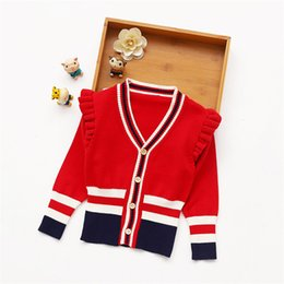 $enCountryForm.capitalKeyWord Australia - Autumn Winter Cotton Kids Sweaters Top Children V-Neck Clothing Girls Knitted Cardigan Sweater for Christmas New Years Wear