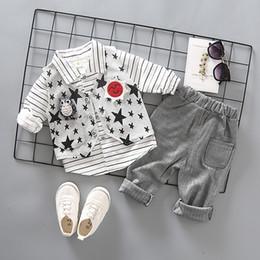 $enCountryForm.capitalKeyWord Australia - 2019 New Spring Children Kid Blazer Formal Gentleman Casual Boy Suits Jackets Bowknot Tie T-Shirt Pants 3pcs sets Infant Clothes