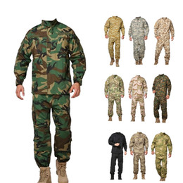 camouflage tactical shirt 2020 - Tactical shirt + pants uniforms US camouflage uniform wholesale army uniforms cheap camouflage tactical shirt