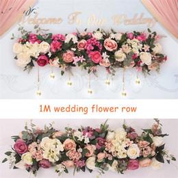 $enCountryForm.capitalKeyWord Australia - 2pcs lot 1M Road cited artificial flowers row wedding decor flower wall arched door shop Flower Row Window T station Christmas