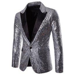 $enCountryForm.capitalKeyWord Australia - Blazer Men Sequin Coat Rock Elegant Long Sleeve Blazer Modern Formal Suit Fashion Jacket Spring Autumn Workwear Outerwear Tuxedo