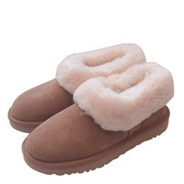 Discount roman shoes - Brand Design Women cow leather Winter Snow Boots Fashion Australia Fur Low Top Casual Indoor Home Shoe Pink Ankle Martin