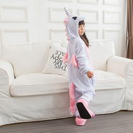 Cosplay Stitch NZ - Children Kigurumi Unicorn Pajama Kid Baby Anime Overall Totoro Jumpsuit Onesie Funny Stitch Onepiece Animal Carnival Cosplay J190520