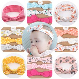 Wholesale Cute Baby hair accessories Hair Bows Nylon Headband Photography Lace Floral Denim Birthday gift for Boutique store