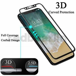 3d Glasses For Iphone Australia - For iphone 8 iphone x 3D Carbon Fiber soft edge Full cover Tempered Glass phone Screen Protector Film For iphone X 8 6 7 plus