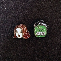 Earring Heroes Australia - Super Hero The Avengers Earrings Marvel Alloy Black Widow and The Hulk Stud Earrings