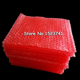 bubble wrap shipping bag 2020 - New Red 100pcs Anti-Static Bubble Bags 15*20cm Bubble Envelopes Wrap Bags Pouches packaging PE Mailer Packing package Fr