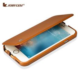 $enCountryForm.capitalKeyWord Australia - Jisoncase Flip Cover For Iphone 6   6s Case Genuine Leather Magnetic Slim Design For Iphone 6  6s 4.7 Inch Kickstand Smart Cover J190701