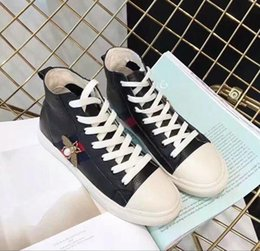 sneaker decorations Australia - Ting2594 6131 High-top Casual Shoes Bee Decoration Sneakers Dress Shoes Skate Dance Ballerina Flats Loafers Espadrilles Wedges