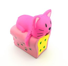 $enCountryForm.capitalKeyWord UK - 2019 New Arrival Jumbo Scented Squishy Toast Cat Decompression toy Slow rising toast cat For cell phone straps DHL Free