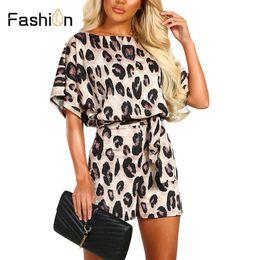 $enCountryForm.capitalKeyWord Australia - 2019 Summer Jumpsuit Women Rompers Sexy Leopard Bodysuit O-neck Playsuit Short Sleeve Catsuit Playsuit Ladies Jumpsuit Plus Size