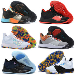 glitter store NZ - 2019 New Hot PG 3 NASA shoes for sales Top Quality Paul George 3 Basketball shoes store