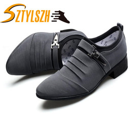 $enCountryForm.capitalKeyWord NZ - Men Casual Shoes 2019 canvas Lace-up Plus Size 38-48 Flat With Shoes Pointed Toe Oxfords Business Casual Party Driving